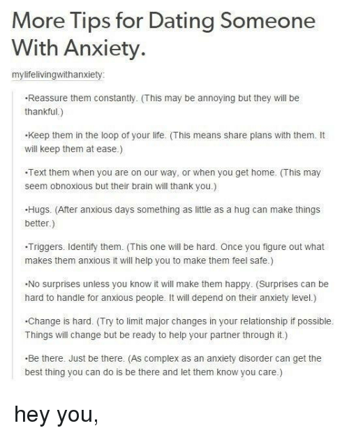 Things to know when dating a girl with anxiety