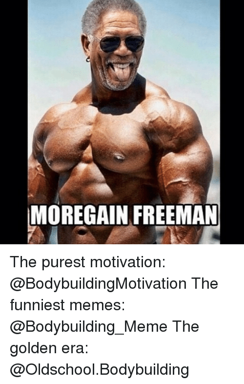 Meme, Memes, and Bodybuilding: MOREGAIN FREEMAN The purest motivation: @BodybuildingMotivation The funniest memes: @Bodybuilding_Meme The golden era: @Oldschool.Bodybuilding