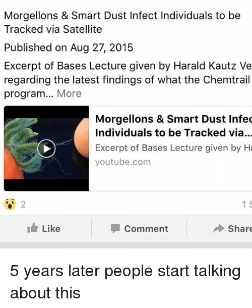 Morgellons & Smart Dust Infect Individuals to Be Tracked via