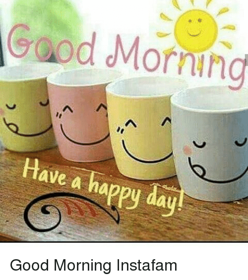 Morning Have A Happy Day Good Morning Instafam Meme On Meme
