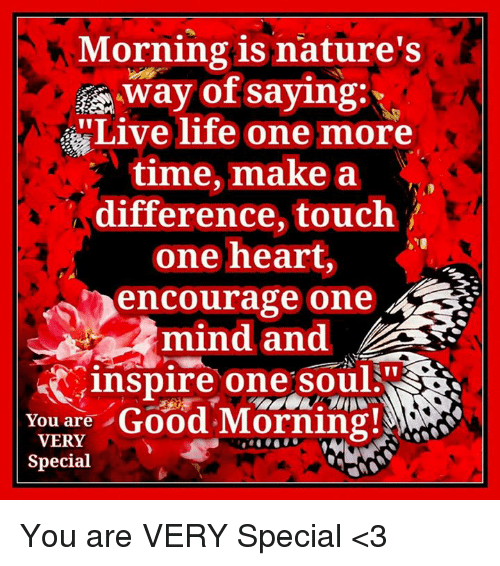 morning is nature s way of saying live life one more time make a
