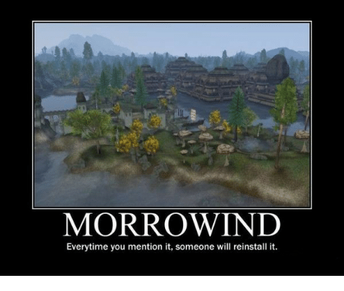 MORROWIND Everytime You Mention It Someone Will Reinstall It