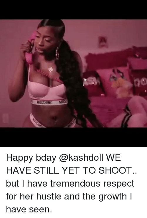 MOSCHINO M Happy Bday WE HAVE STILL YET TO SHOOT but I Have