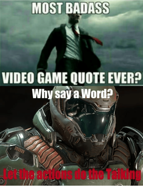 MOST BADASS VIDEO GAME QUOTE EVER? Why Saya Worda | Gaming ...