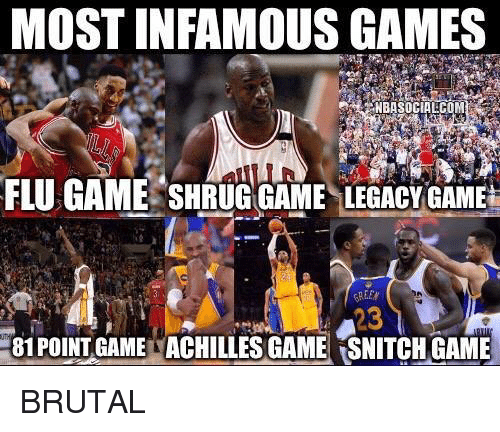 095a60f5c2fc MOST INFAMOUS GAMES NBASOCIALCOM FLU GAME SHRUG GAME LEGACY GAME 81 ...