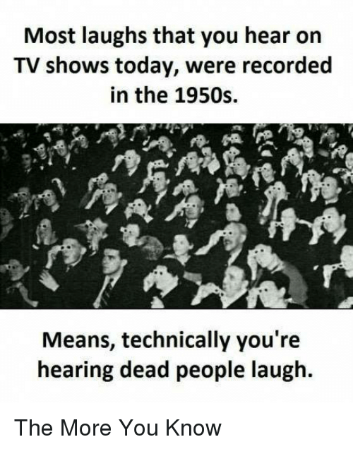 Most Laughs That You Hear on TV Shows Today Were Recorded in