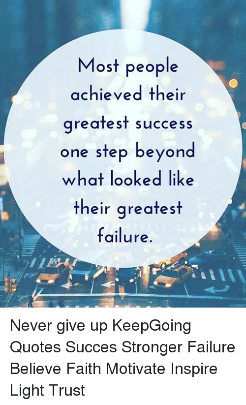 beyond success and failure