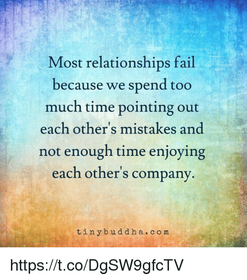 Why do most relationships fail