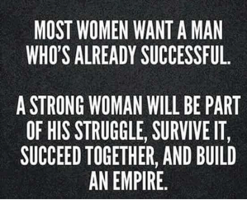 In A Want Successful Men Woman What