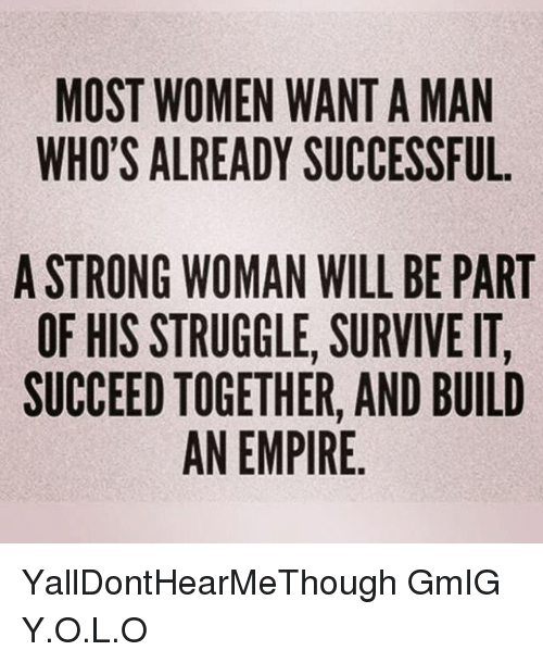 Want Woman Men What A Do In Successful