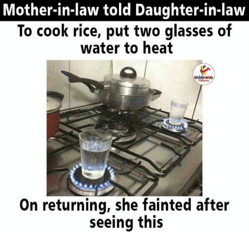 mother in law told daughter in law to cook rice put two glasses of 23653090 ✅ 25 best memes about mother in law mother in law memes