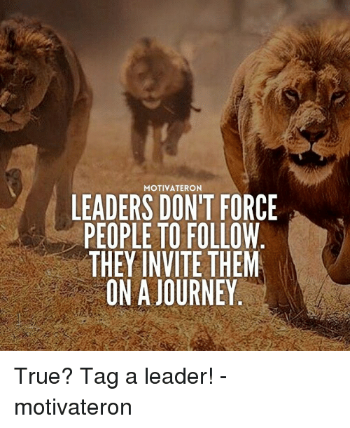 a leader for all to follow