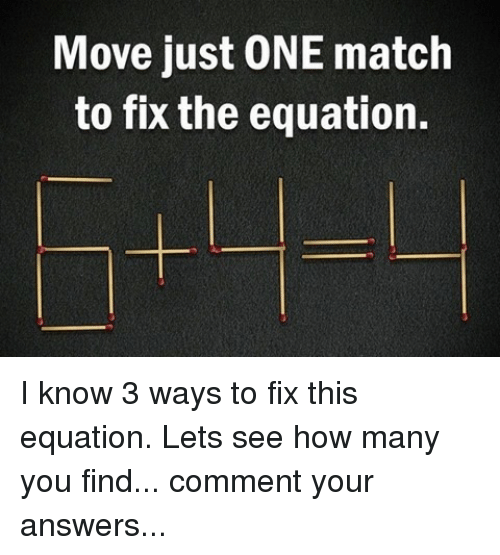 Memes Match And Move Just One To Fix The Equation