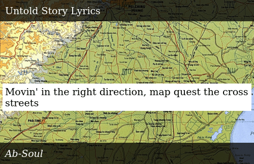 Movin' in the Right Direction Map Quest the Cross Streets | Donald on
