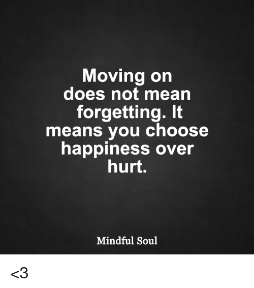 what does moving on mean