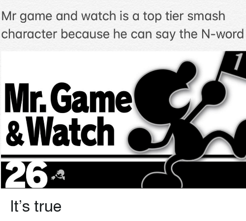 Mr Game and Watch Is a Top Tier Smash Character Because He