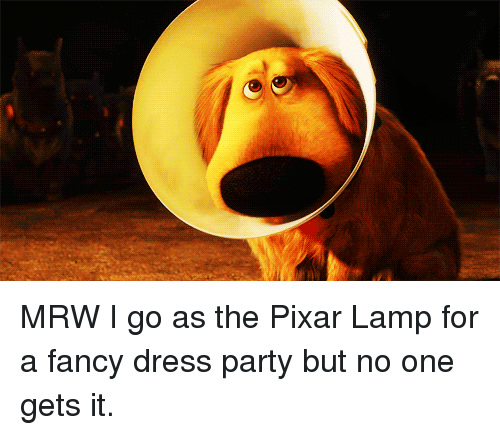 Mrw, Party, And Pixar: MRW I Go As The Pixar Lamp For A