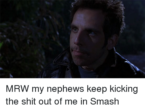 kicking the shit out of someone