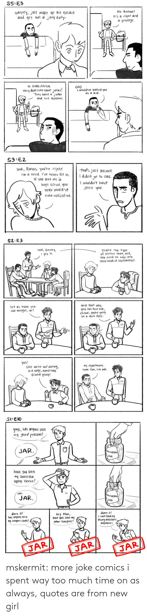 Target, Too Much, and Tumblr: mskermit:  more joke comics i spent way too much time on as always, quotes are from new girl