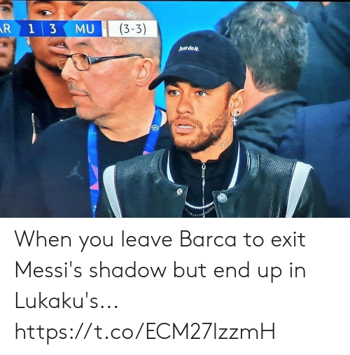 Soccer, Barca, and Shadow: MU (3-3)  Just dote When you leave Barca to exit Messi's shadow but end up in Lukaku's... https://t.co/ECM27lzzmH