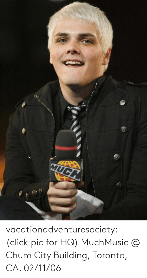 Click, Tumblr, and Blog: MUC vacationadventuresociety:  (click pic for HQ) MuchMusic @ Chum City Building, Toronto, CA. 02/11/06