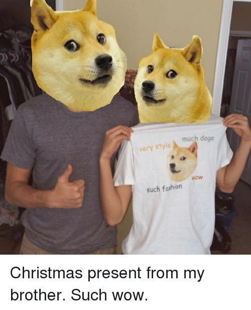 christmas doge and fashion much doge very style wow such fashion christmas present - Christmas Doge