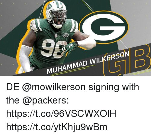 Memes, Packers, and Muhammad: MUHAMMAD WILKERSOND DE @mowilkerson signing with the @packers: https://t.co/96VSCWXOlH https://t.co/ytKhju9wBm