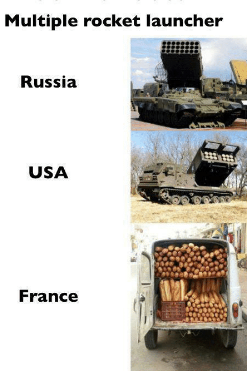 Multiple Rocket Launcher Russia Usa France Meme On Me Me