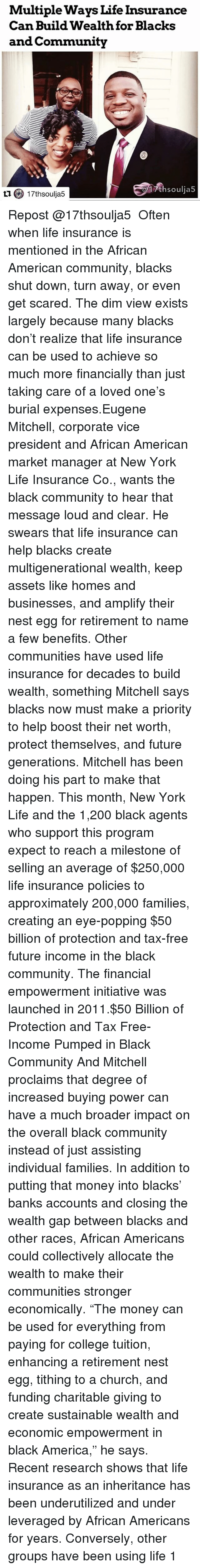 Multiple Ways Life Insurance Can Build Wealth for Blacks ...