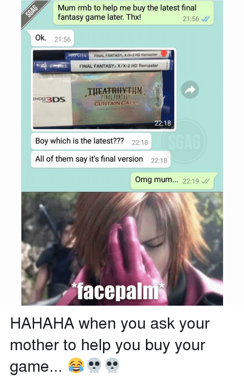 mum rmb to help me buy the latest final fantasy 13652140 ✅ 25 best memes about final fantasy final fantasy memes
