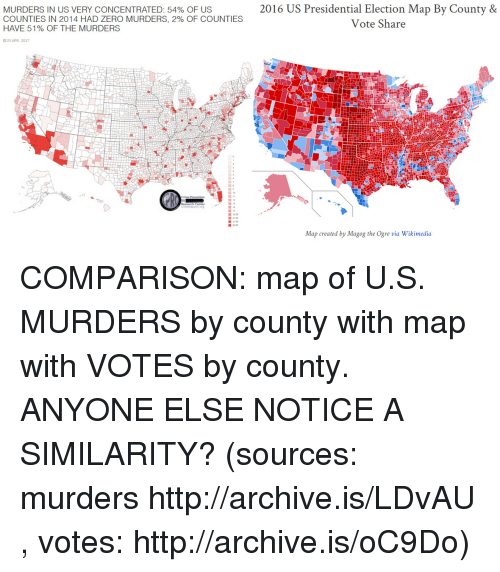 MURDERS IN US VERY CONCENTRATED OF US COUNTIES IN HAD - 2017 electoral us map by county