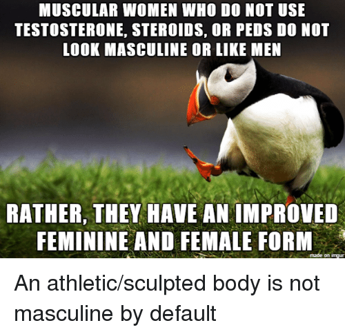 MUSCULAR WOMEN WHO DO NOT USE TESTOSTERONE STEROIDS OR PEDS