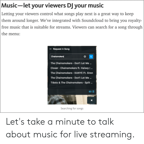 Music-Let Your Viewers DJ Your Music Letting Your Viewers