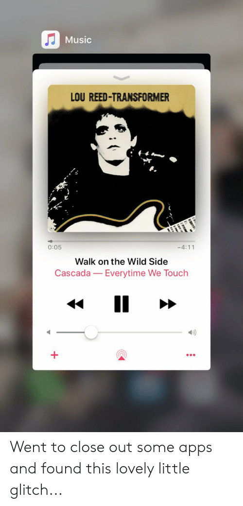 Music LOU REED-TRANSFORMER 005 -411 Walk on the Wild Side