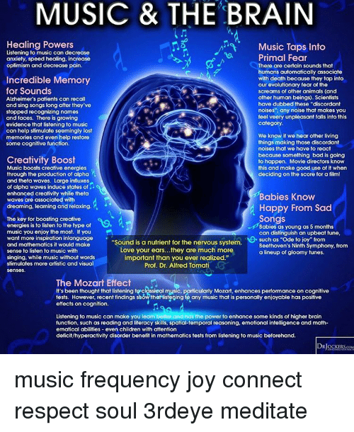 how does music affect intellect 1 affect/affection neither word denotes a personal feeling (sentiment in deleuze and guattai) l'affect (spinoza's affectus) is an ability to affect and be affectedit is a prepersonal intensity corresponding to the passage from one experiential state of the body to another and implying an augmentation or diminution in that body's capacity to act.