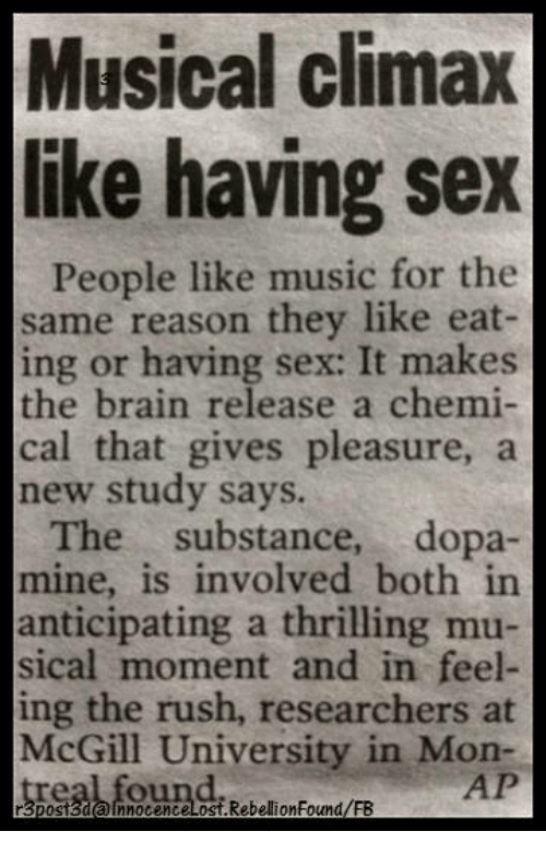 To music sex Having