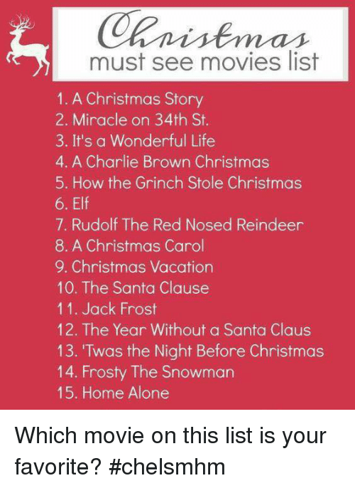 a christmas story charlie and elf must see movies list 1 a - Christmas Movie List