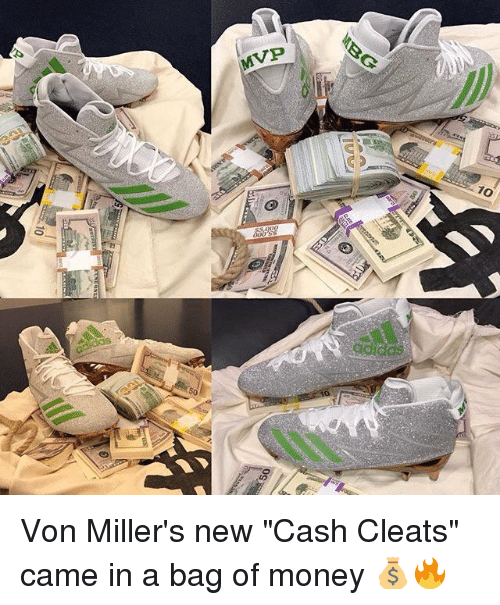 903d65d5270 MVP 10 Adidas So IUyd Von Miller s New Cash Cleats Came in a Bag of ...