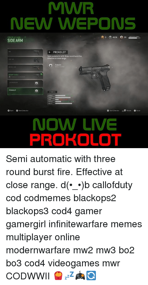 MWR NEW WEPONS 8 46 36 28 CREATE a CLASS SIDE ARM PROKOLOT