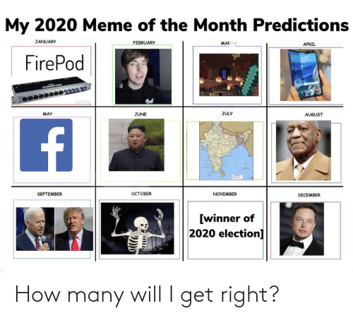 My 2020 Meme Of The Month Predictions January February March April