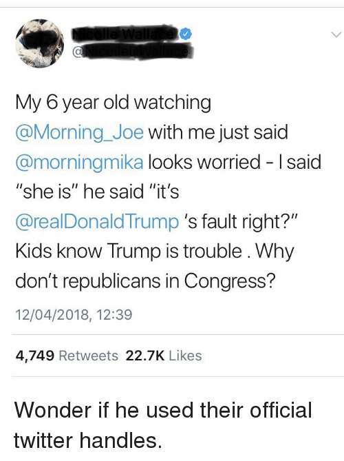 Twitter Kids And Trump My 6 Year Old Watching Morning Joe With Me