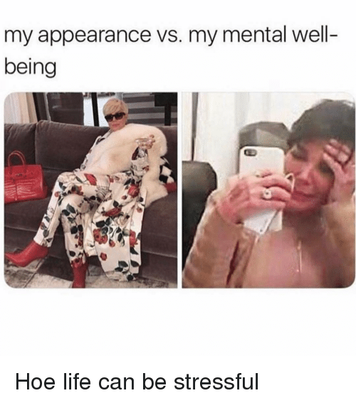 Hoe, Life, and Girl Memes: my appearance vs. my mental well-  being Hoe life can be stressful