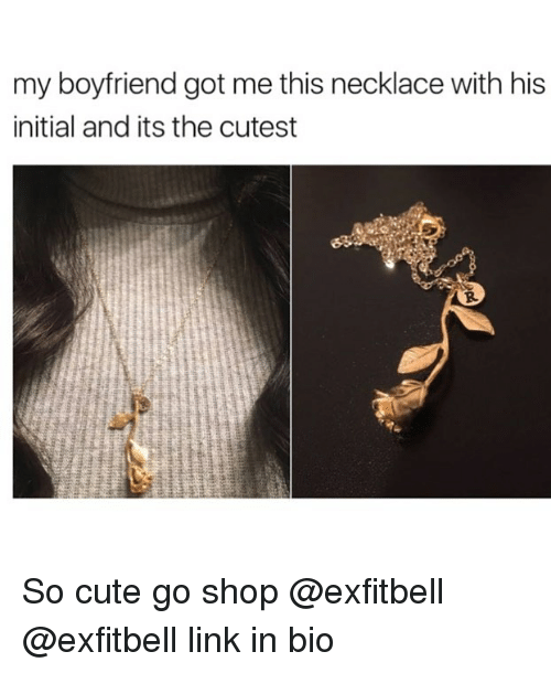 My Boyfriend Got Me This Necklace With His Initial And Its The