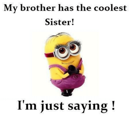 My Brother Has the Coolest Sister! I'm Just Saying | Meme on