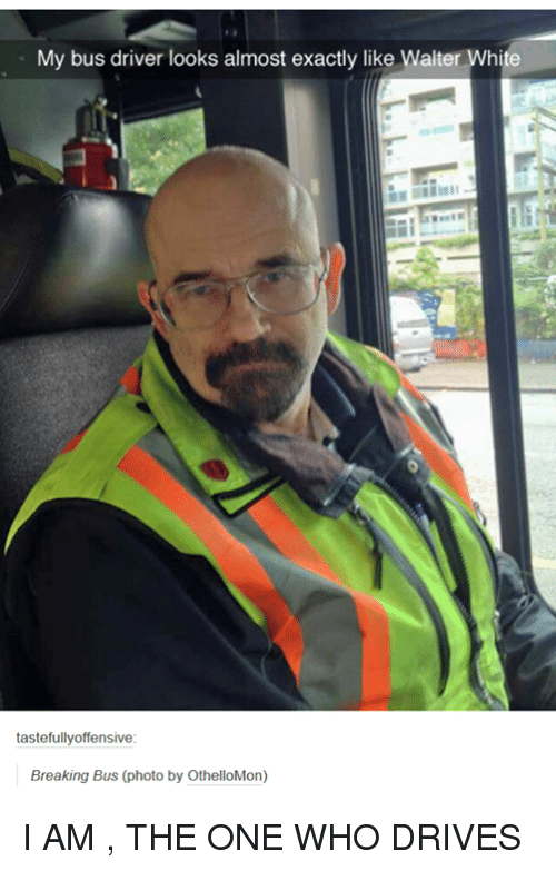 my bus driver looks almost exactly like walter white tastefully 4923582 ✅ 25 best memes about walter white walter white memes