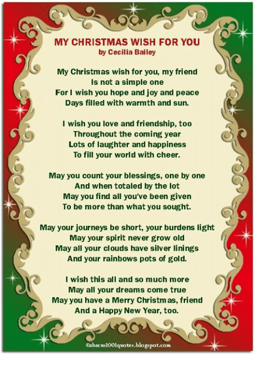 MY CHRISTMAS WISH FOR YOU by Cecilia Bailey My Christmas Wish for ...