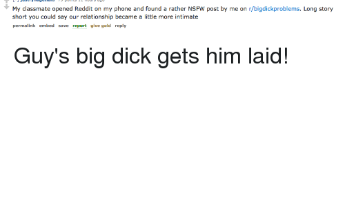 Reddit big dick