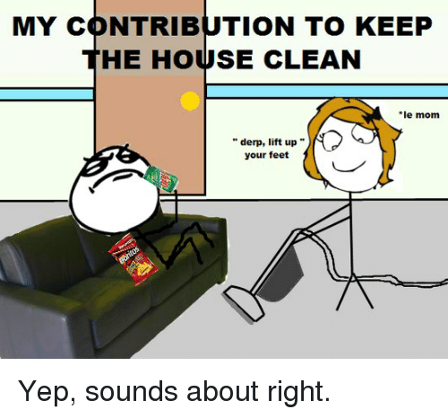 my contribution to keep he house clean le mom derp 8097109 my contribution to keep he house clean le mom derp lift up your