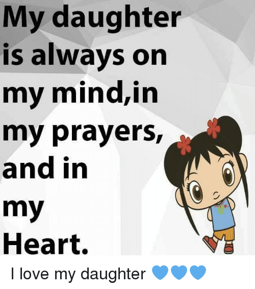 My Daughter Is Always On My Mindin My Prayers And In My Heart I Love