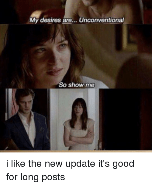 Ironic, Ares, and New: My desires are... Unconventional  So show me i like the new update it's good for long posts
